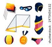 water polo equipment or swim... | Shutterstock .eps vector #1975454132