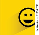 smile emoticon | Shutterstock .eps vector #197546792