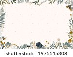background with floral frame... | Shutterstock .eps vector #1975515308