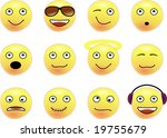 collection of smileys. various... | Shutterstock .eps vector #19755679