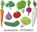 sketchy illustration featuring... | Shutterstock .eps vector #197556812