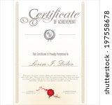 certificate template | Shutterstock .eps vector #197558678