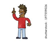 cartoon man with great new idea   Shutterstock .eps vector #197559026
