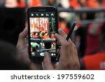 bangkok   jan 29  a protester... | Shutterstock . vector #197559602