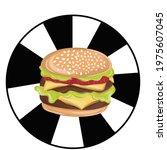 hamburger icon. american... | Shutterstock .eps vector #1975607045