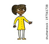 cartoon worried girl | Shutterstock .eps vector #197561738