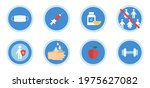 virus protection icon set.... | Shutterstock .eps vector #1975627082