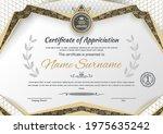 white certificate and modern...   Shutterstock .eps vector #1975635242