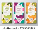chocolate labels set. abstract... | Shutterstock .eps vector #1975640375