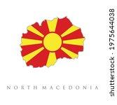 north macedonia map flag vector....   Shutterstock .eps vector #1975644038