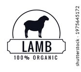 organic meat label with... | Shutterstock .eps vector #1975645172