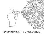 one line photographer holding... | Shutterstock .eps vector #1975679822