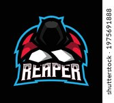 reaper mascot gaming logo ... | Shutterstock .eps vector #1975691888