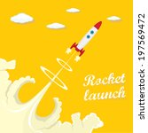 rocket launcher. vector... | Shutterstock .eps vector #197569472