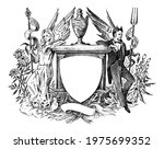 angel and devil. woman and man... | Shutterstock .eps vector #1975699352