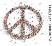 people of peace. hundreds of... | Shutterstock . vector #197570966