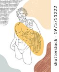 vector antique sculpture art...   Shutterstock .eps vector #1975751222