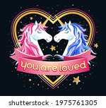 heart shape frame with two... | Shutterstock .eps vector #1975761305