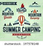 summer camping vector...