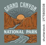vintage grand canyon national... | Shutterstock .eps vector #1975800038