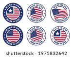 set of made in the usa labels ... | Shutterstock .eps vector #1975832642