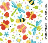 seamless pattern with cute... | Shutterstock .eps vector #1975852202