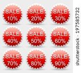 sale 10 20 30 40 50 60 70 80 90 ... | Shutterstock .eps vector #197585732