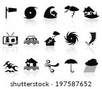 black storm icons set | Shutterstock .eps vector #197587652