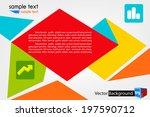 modern design template ... | Shutterstock .eps vector #197590712
