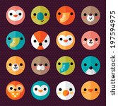 Vector Set Of Flat Animal And...