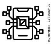 api phone processor icon....