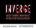inverse style font design ... | Shutterstock .eps vector #1976000555