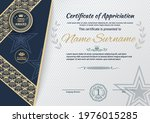 white blue certificate and...   Shutterstock .eps vector #1976015285
