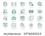 real estate line icons. vector... | Shutterstock .eps vector #1976034215