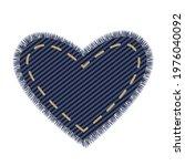 denim heart design element for... | Shutterstock .eps vector #1976040092