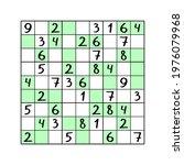 odd even sudoku game for kids... | Shutterstock .eps vector #1976079968