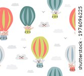 childish seamless pattern with...   Shutterstock . vector #1976096225