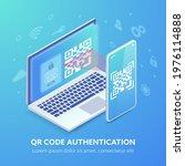 qr code authentication website...   Shutterstock .eps vector #1976114888