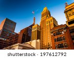 evening light on a cluster of... | Shutterstock . vector #197612792