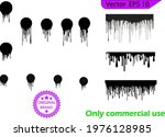 dripping paint drips background.... | Shutterstock .eps vector #1976128985