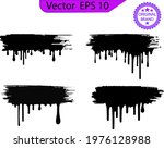 dripping paint drips background....   Shutterstock .eps vector #1976128988