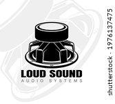 logo design with audio speaker... | Shutterstock .eps vector #1976137475