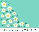 white daisy flowers blue card...   Shutterstock .eps vector #1976147582