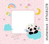 decorative photo frame. panda... | Shutterstock .eps vector #1976181278