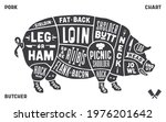 poster pig for butcher meat...   Shutterstock .eps vector #1976201642