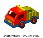toy truck isolated on white... | Shutterstock .eps vector #1976211902