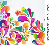 abstract colorful arc drop... | Shutterstock . vector #197624906