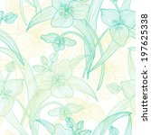 elegant seamless pattern with... | Shutterstock . vector #197625338