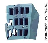 destroyed building after... | Shutterstock .eps vector #1976269652