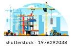 a building under construction... | Shutterstock .eps vector #1976292038